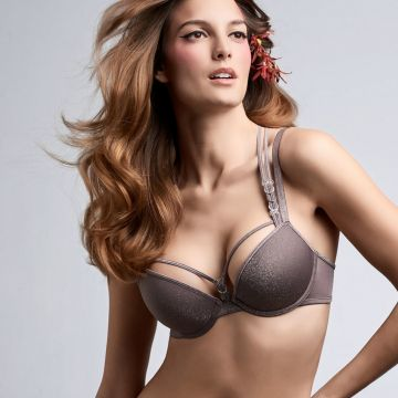 Manjira wired padded push up Bra