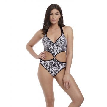 GATSBY UW PADDED CUT OUT HALTER SUIT
