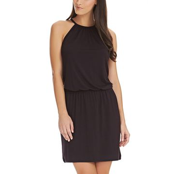 COASTLINE HALTERNECK BEACH DRESS