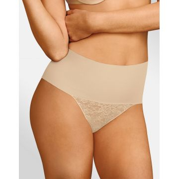TAME YOUR TUMMY LACE THONG