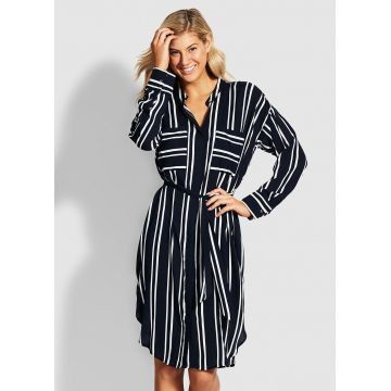 SUMMER SEA STRIPE SHIRT DRESS